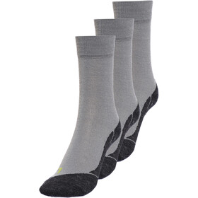 axant 73 Merino Socks 3er Pack Kinder grey-green